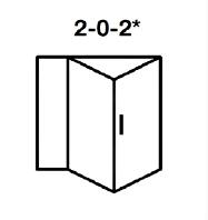 2-0-2* Aluminium Bi-fold