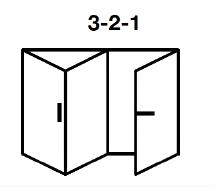 3-2-1 Aluminium Bi-fold
