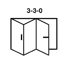 3-3-0 Aluminium Bi-fold