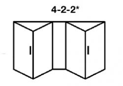 4-2-2* Aluminium Bi-fold