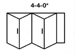 4-4-0* Aluminium bi-fold
