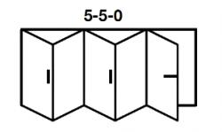 5-5-0 Aluminium Bi-fold