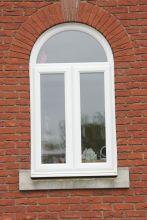 UPVC Chamfered Arched Windows