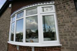 UPVC Chamfered Bay Window